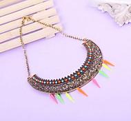 Charm Semicircle Choker Necklace Jewelry Chain Pendant
