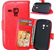 hoge kwaliteit pu lederen portemonnee mobiele telefoon holster case voor Galaxy s5 mini / S4 mini / s3 mini / S4 / S3 (assorti kleur)