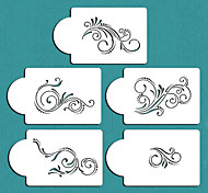 Five Scroll Cake Stencil Set, Cake top Stencil, Flower Stencils for Decoration,ST-132