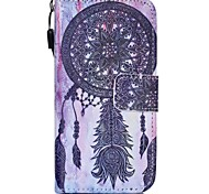Campanula Pattern PU Material Cell Phone Case For iPhone 5/5S