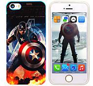 iPhone5 maravillarse el capitán vengador américa espejo caso de la contraportada azul libre con protector de pantalla hd para iPhone5 / 5s