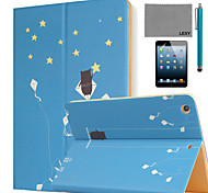 LEXY® Summer Stars Pattern PU Leather Flip Stand Case with Screen Protector and Stylus for iPad Mini 4