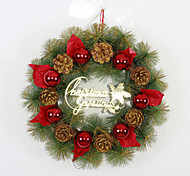 Christmas Pine Cone Decorations Wreath