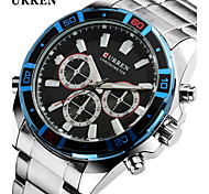 Men Fashion Casual Curren Stainless Steel Quartz Wrist Watch