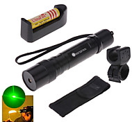 LT - 5mw 532nm Visible Adjustable Beam Green Laser  Pen Flashlight - Black