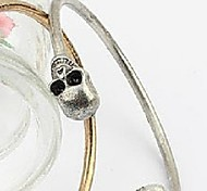 New Jewelry Fashion Vintage Skull Openings Silver Bracelet