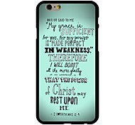 2 Corinthians 12:9 Pattern PC Hard Case for iPhone 6/6S