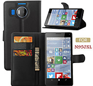 Embossed Card Bracket Type Protective Sleeve For Microsoft Lumia 950 XL Mobile Phone