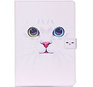 White Cat Pattern Standoff Protective Case for iPad Mini 4