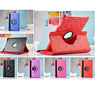 New Arrival Hot Sell Fashion Flower 360 Rotate Pu leather Case Cover Auto Sleep/Wake Up for ipad 4/3/2(Assorted Color)