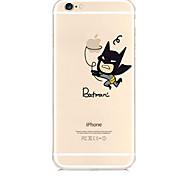 que come a maçã padrão TPU caso de telefone macio material para iphone 6 / 6s