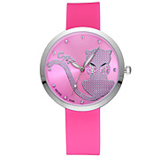 Skone® Women's Luminous Hands Cute Cartoon Rhinestone Silicone Strap Watches