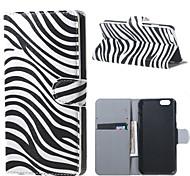 Zebra Stripes PU Leather Flip Case for iPhone 6/6S