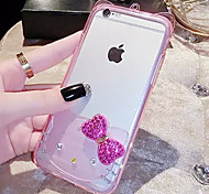LADY®Cartoon Phone Case/Cover for iphone 6/6s(4.7) and Decorated with Diamond, Silicone Material, More Colors Available