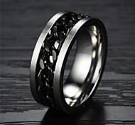 ailaicity®Gold Chain Titanium Steel Men's Ring