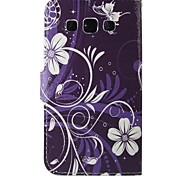 lila Blumen PU-Leder Ganzkörper-Fall für Samsung-Galaxie grand / grand neo i9060 / Kern prime / grand prime / Core plus