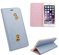 iphone 6 PU leather cover Disney Hello Kitty Butterflies Blue with a free Headfore HD Screen Protector for iPhone 6