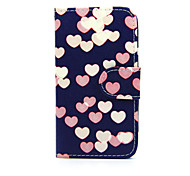 For Nokia Case Wallet / Card Holder / with Stand Case Full Body Case Heart Hard PU Leather Nokia Nokia Lumia 630