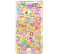 Multiple Face Pattern Glitter Powder TPU Soft Back Cover for Nokia N535