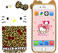 iPhone 6 Plus Case Hello Kitty TPU Material Free with Headfore High Definition Screen Protector for iPhone 6+