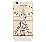 Apple Logo Men Pattern TPU Soft Case for iPhone 6/6S
