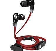 langsdom jm02 estéreo original macarrão som viva-voz wire in-ear fone de ouvido microfone headphone