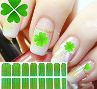 1PCS Clover Full Cover Nail Stickers
