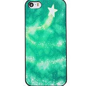Christmas Style Green Star Track Pattern PC Hard Back Cover for iPhone 5/5S