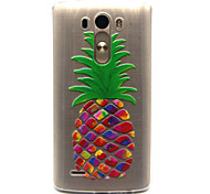 pineapple Pattern TPU Relief Back Cover Case for LG G3