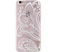 Folk Style Painting Transparent Soft TPU Back Cover for iPhone 6/6S 4.7""