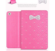 Hot Selling Sparkling Rhinestone Bowknot Flip Skin Shell for iPad Mini 1/2/3(Assorted Colors)