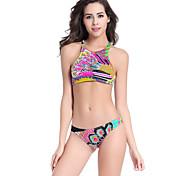 2016 Swimming Wear Plus Size Big Lady Tank Top Sex Push Up Peacock Pattern Woman Bikini Set M.L.XL DM071