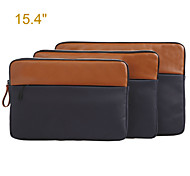 Genuine Leather with Canvas Laptop   Computer Carrying Bag for MacBook Pro 15.4''/MacBook Pro 15.4'' with Retina