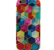 geometria padrão TPU caso para iphone 6s / 6