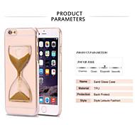 dynamisch fließenden Sand Sanduhr Glitter Treibsand capa klarer Fall für iphone 7 7 und 6s Plus