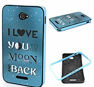 2-in-1 The Moon And Back Phrase Pattern TPU Back Cover + PC Bumper Shockproof Soft Case For Sony E4