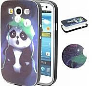 2-in-1 Pandamuster tpu rückseitige Abdeckung + pc Autostoßfeste weiche Tasche für Samsung-Galaxie S3 / S4 / S5 / S6 / S6 Kante / S6 Kante