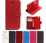 Matte Litchi PU Leather Full Body Cases Phone Leather Case with Card Bag for iPhone 6