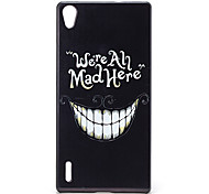 Smiling Face Pattern PC Material Back Case for Huawei P7
