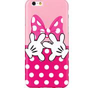 witte vinger patroon TPU Cover Case voor iPhone 6 / iphone 6s