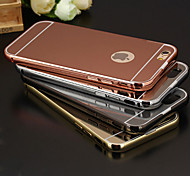 New Luxury Plated Aluminum Metal Frame+Mirror Acrylic Back Cover Shell Case for iPhone 6/6S(Assorted Colors)