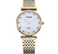 Longbo relógios de marca de luxo homens, relógio de quartzo