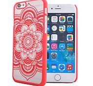 For iPhone 6 Case Transparent / Pattern / Embossed Case Back Cover Case Mandala Hard PC iPhone 6s/6