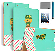 LEXY® Let It Grow Pattern PU Leather Flip Stand Case with Screen Protector and Stylus for iPad Air 2/iPad 6