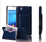 Leather Card Bracket For Sony Retro Protection Sony Xperia C4 Mobile Phone