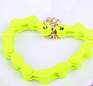 Charm Metal Bike Chain Bracelet Yellow Bangle Women Jewelry
