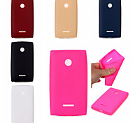 Leather Texture Soft TPU Case for Lumia 435