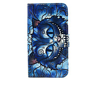 For LG Case Card Holder / Wallet / with Stand / Flip Case Full Body Case Cat Hard PU Leather LG