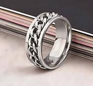 Муж. Женский Массивные кольца Мода европейский бижутерия Нержавеющая сталь Сплав Бижутерия Назначение Повседневные