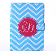 Blue and White Anchor Pattern PU Leather Full Body Case with Stand for iPad  Mini 4